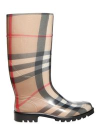 Burberry | Natural Check Rain Boots | Lyst