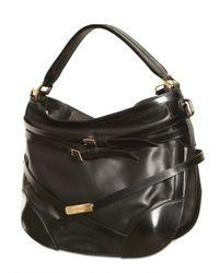 Burberry | Black Leather Dutton Shoulder Bag | Lyst