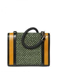 Burberry Prorsum | Multicolor Raffia Woven Christie Shoulder Bag | Lyst