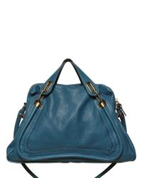 Chloé | Blue Large Paraty Top Handle | Lyst