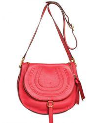 Chloé | Pink Marcie Crossbody Shoulder Bag | Lyst