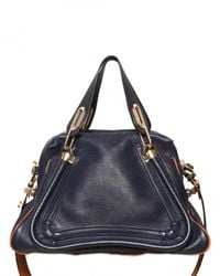 Chloé | Blue Paraty Military Strap Top Handle | Lyst