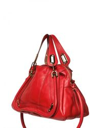 Chloé | Red Paraty Medium Top Handle | Lyst