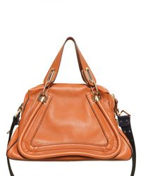 Chloé - Brown Paraty Military Strap Top Handle - Lyst
