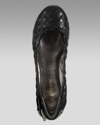 Cole Haan - Black Air Eliza Quilted Ballerina Flat - Lyst
