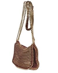 De Couture | Red Gold Chain Reversible Shoulder Bag | Lyst