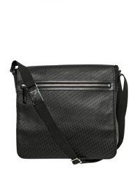 Dior Homme | Black Logo Embossed Calf Messenger Bag for Men | Lyst