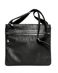Dior Homme | Black Logo Jacquard Waxed Canvas Flat Bag for Men | Lyst