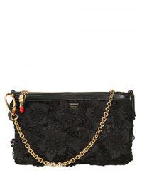 Dolce & Gabbana | Black Miss Cleo Clutch | Lyst