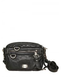Dolce & Gabbana | Black Washed Sheepskin Fanny Pack Bag for Men | Lyst