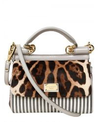 Dolce & Gabbana | Multicolor Mini Miss Sicily Top Handle | Lyst