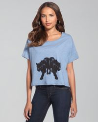 Elizabeth and James | Blue Panther Cropped Tee | Lyst