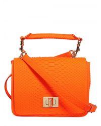 Emilio Pucci | Orange Marquise Python Shoulder Bag | Lyst