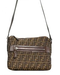 Fendi - Brown Zucca Logo Canvas Shoulder Bag for Men - Lyst