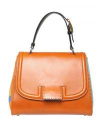 Fendi | Orange Silvana Leather & Cotton Top Handle | Lyst