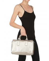 Ferragamo - White Isabel Top Handle - Lyst