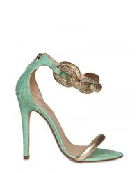 Giambattista Valli | Blue 120mm Python & Chain Sandals | Lyst