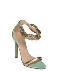 Giambattista Valli | Blue 120mm Python & Chain Sandals | Lyst