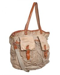 Giorgio Brato - Natural Washed Vintage Weekend Bag for Men - Lyst