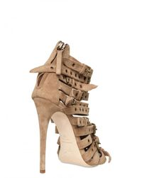 Giuseppe Zanotti | Natural 120mm Suede Buckled Strap Sandals | Lyst
