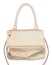 Givenchy | Natural Pandora Small Leather Shoulder Bag | Lyst