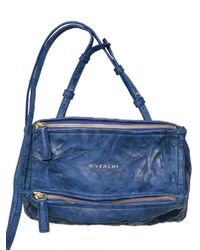 Givenchy | Blue Pandora Mini Washed Leather Shoulder Bag | Lyst