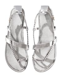H&M - Metallic Sandals - Lyst