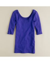 J.Crew | Blue Perfect-Fit Ballet Button Tee | Lyst