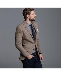J.Crew | Brown Linen Herringbone Sportcoat in Ludlow Fit for Men | Lyst