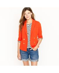 J.Crew | Red Double-breasted Gold-button Blazer | Lyst