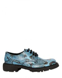 Jil Sander | Blue Python Lace-up Shoes for Men | Lyst