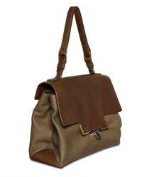 Lanvin - Brown Miss Sartorial Calfskin Shoulder Bag - Lyst