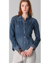 Madewell - Blue Detailed Camp Shirt - Lyst