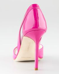 Manolo Blahnik   Pink Nscanti Cutout Patent Leather Pump   Lyst