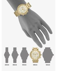 Michael Kors - Metallic Parker Pave Goldtone Stainless Steel Chronograph Bracelet Watch - Lyst