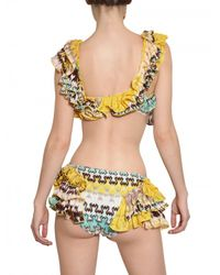 Missoni | Multicolor Ruffled Viscose Knit Bathing Suit | Lyst