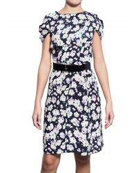 Nina Ricci - Multicolor Crepe De Chine Floral Dress - Lyst