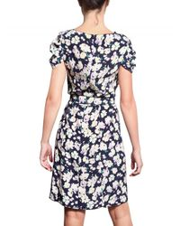 Nina Ricci | Multicolor Crepe De Chine Floral Dress | Lyst