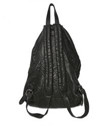 Officine Creative | Black Hammered Calfskin Backpack Bag for Men | Lyst