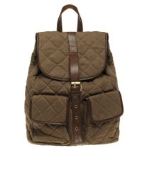 River Island - Brown Quilted Backpack for Men - Lyst