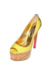 Ruthie Davis - Yellow 150mm Patent Fluro Peep Toe Pumps - Lyst