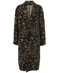 TOPSHOP | Black Paw Print Crombie Mac By Boutique | Lyst