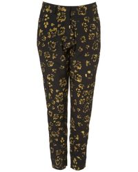 TOPSHOP | Black Paw Print Trousers By Boutique | Lyst