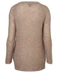 TOPSHOP | Brown Knitted Pastel Tweedy Jumper | Lyst