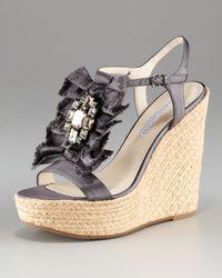 Vera Wang Lavender | Gray Paige Charcoal Wedge Platform | Lyst