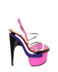 Versace | Multicolor 16omm Patent Sandals | Lyst