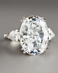 Fantasia by Deserio | Blue Oval Cubic Zirconium Ring | Lyst