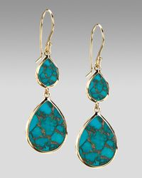 Ippolita | Blue Two-drop Earrings, Bronze Turquoise | Lyst