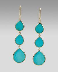 Ippolita | Blue Triple Teardrop Earrings, Turquoise | Lyst