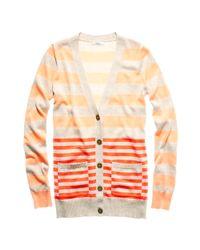 Madewell | Orange Stripecast Cardigan | Lyst